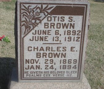 BROWN, OTIS S. - Buffalo County, Nebraska | OTIS S. BROWN - Nebraska Gravestone Photos