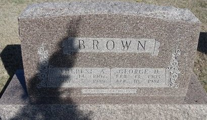 BROWN, GEORGE D. - Buffalo County, Nebraska | GEORGE D. BROWN - Nebraska Gravestone Photos