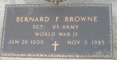BROWNE, BERNARD - Buffalo County, Nebraska | BERNARD BROWNE - Nebraska Gravestone Photos