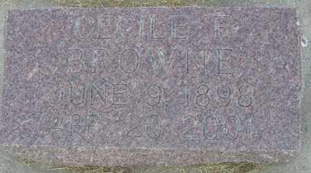 BROWNE, CECILE - Buffalo County, Nebraska   CECILE BROWNE - Nebraska Gravestone Photos