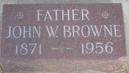 BROWNE, JOHN - Buffalo County, Nebraska | JOHN BROWNE - Nebraska Gravestone Photos