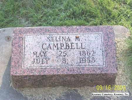 CAMPBELL, SELINA - Buffalo County, Nebraska | SELINA CAMPBELL - Nebraska Gravestone Photos