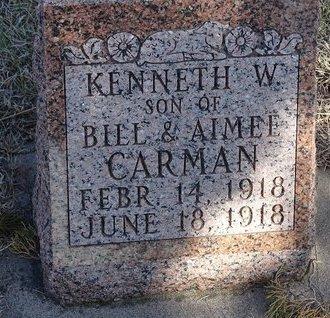 CARMAN, KENNETH W. - Buffalo County, Nebraska | KENNETH W. CARMAN - Nebraska Gravestone Photos