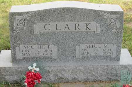 CLARK, ALICE - Buffalo County, Nebraska   ALICE CLARK - Nebraska Gravestone Photos
