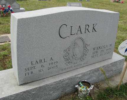CLARK, EARL - Buffalo County, Nebraska | EARL CLARK - Nebraska Gravestone Photos
