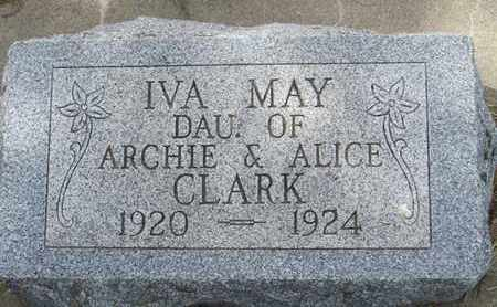 CLARK, IVA - Buffalo County, Nebraska | IVA CLARK - Nebraska Gravestone Photos