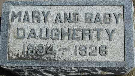 DAUGHERTY, MARY & BABY - Buffalo County, Nebraska | MARY & BABY DAUGHERTY - Nebraska Gravestone Photos