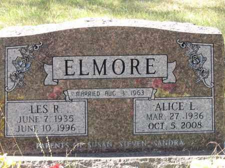 ELMORE, ALICE L. - Buffalo County, Nebraska | ALICE L. ELMORE - Nebraska Gravestone Photos