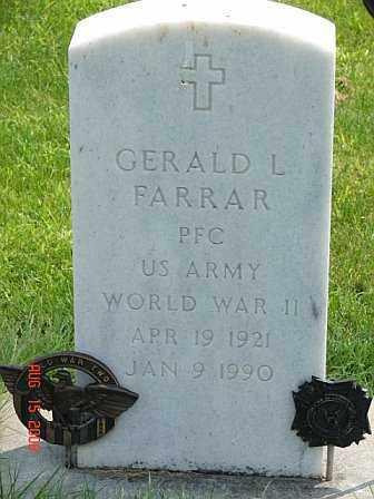 FARRAR, GERALD - Buffalo County, Nebraska | GERALD FARRAR - Nebraska Gravestone Photos