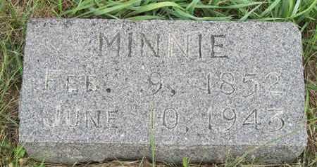 FIEBIG, MINNIE - Buffalo County, Nebraska | MINNIE FIEBIG - Nebraska Gravestone Photos