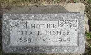 FISHER, ETTA - Buffalo County, Nebraska | ETTA FISHER - Nebraska Gravestone Photos