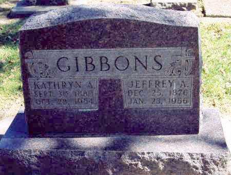 GIBBONS, KATHRYN - Buffalo County, Nebraska | KATHRYN GIBBONS - Nebraska Gravestone Photos