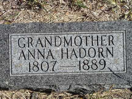 HADORN, ANNA - Buffalo County, Nebraska   ANNA HADORN - Nebraska Gravestone Photos