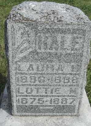 HALE, LAURA - Buffalo County, Nebraska | LAURA HALE - Nebraska Gravestone Photos