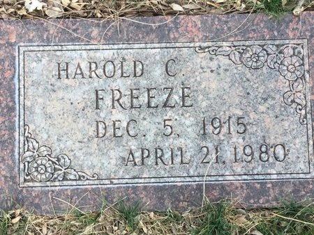 FREEZE, HAROLD C - Buffalo County, Nebraska   HAROLD C FREEZE - Nebraska Gravestone Photos
