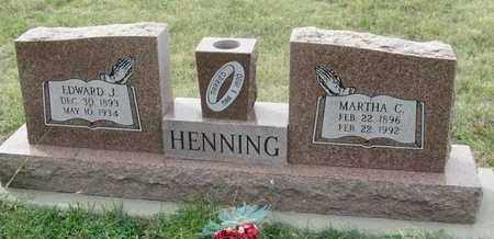 HENNING, EDWARD - Buffalo County, Nebraska | EDWARD HENNING - Nebraska Gravestone Photos