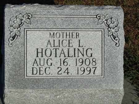 HOTALING, ALICE L. - Buffalo County, Nebraska | ALICE L. HOTALING - Nebraska Gravestone Photos