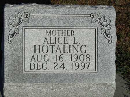 HOTALING, ALICE L. - Buffalo County, Nebraska | ALICE L. HOTALING - Nebraska Gravestone Photos
