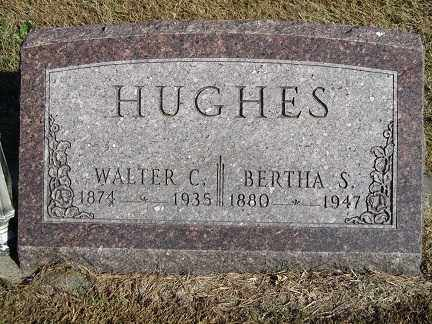 HUGHES, BERTHA S. - Buffalo County, Nebraska | BERTHA S. HUGHES - Nebraska Gravestone Photos