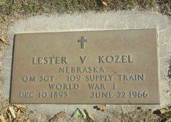 KOZEL, LESTER V. - Buffalo County, Nebraska | LESTER V. KOZEL - Nebraska Gravestone Photos