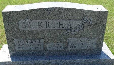 KRIHA, ROSE M. - Buffalo County, Nebraska | ROSE M. KRIHA - Nebraska Gravestone Photos
