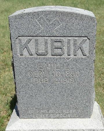 KUBIK, EMIL L - Buffalo County, Nebraska | EMIL L KUBIK - Nebraska Gravestone Photos
