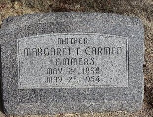 CARMAN LAMMERS, MARGARET T. - Buffalo County, Nebraska | MARGARET T. CARMAN LAMMERS - Nebraska Gravestone Photos