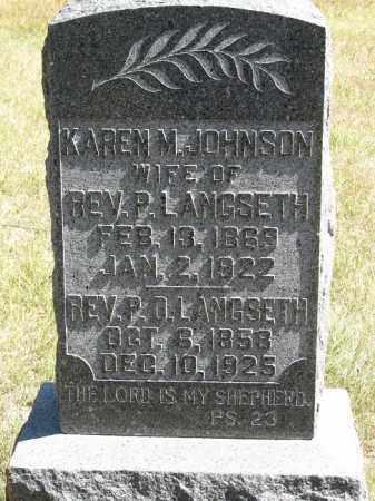 LANGSETH, P. O. - Buffalo County, Nebraska | P. O. LANGSETH - Nebraska Gravestone Photos