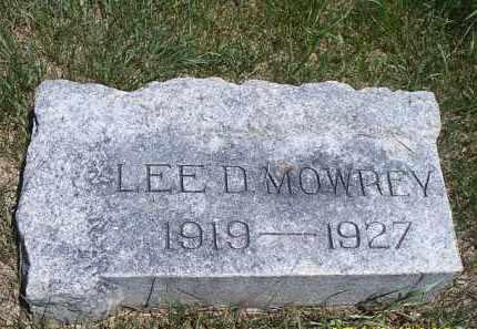MOWERY, LEE DENNIS - Buffalo County, Nebraska   LEE DENNIS MOWERY - Nebraska Gravestone Photos