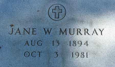 MURRAY, JANE W. - Buffalo County, Nebraska   JANE W. MURRAY - Nebraska Gravestone Photos