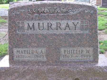 MURRAY, PHILLIP W. - Buffalo County, Nebraska   PHILLIP W. MURRAY - Nebraska Gravestone Photos