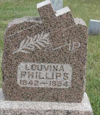 PHILLIPS, LOUVINA - Buffalo County, Nebraska | LOUVINA PHILLIPS - Nebraska Gravestone Photos