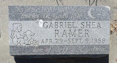 RAMER, GABRIEL SHEA - Buffalo County, Nebraska | GABRIEL SHEA RAMER - Nebraska Gravestone Photos