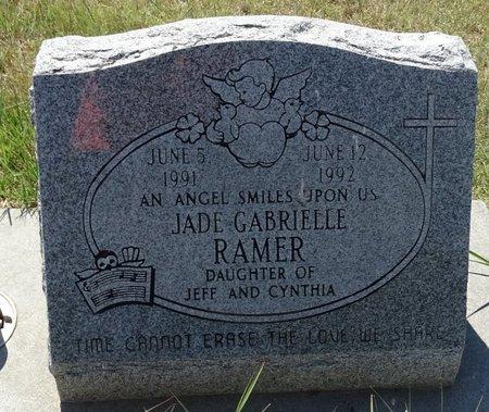 RAMER, JADE GABRIELLE - Buffalo County, Nebraska | JADE GABRIELLE RAMER - Nebraska Gravestone Photos