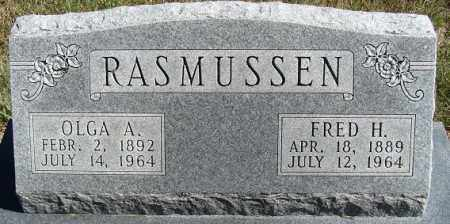 RASMUSSEN, FRED H. - Buffalo County, Nebraska | FRED H. RASMUSSEN - Nebraska Gravestone Photos
