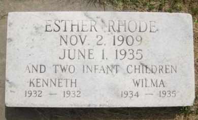 RHODE, ESTER - Buffalo County, Nebraska | ESTER RHODE - Nebraska Gravestone Photos