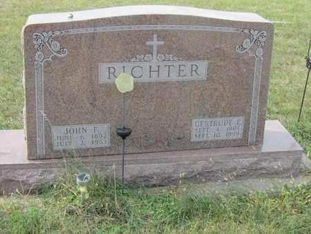 RICHTER, JOHN - Buffalo County, Nebraska | JOHN RICHTER - Nebraska Gravestone Photos