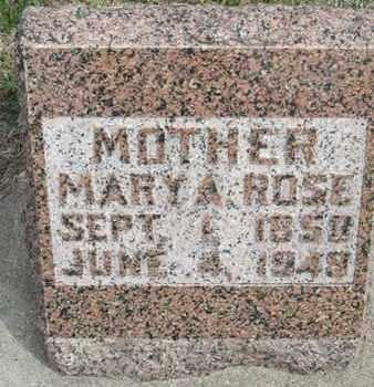 ROSE, MARY - Buffalo County, Nebraska | MARY ROSE - Nebraska Gravestone Photos