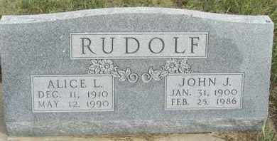 RUDOLF, ALICE - Buffalo County, Nebraska | ALICE RUDOLF - Nebraska Gravestone Photos
