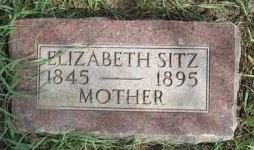 SITZ, ELIZABETH - Buffalo County, Nebraska | ELIZABETH SITZ - Nebraska Gravestone Photos