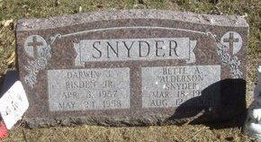 ANDERSON SNYDER, BETTE A - Buffalo County, Nebraska | BETTE A ANDERSON SNYDER - Nebraska Gravestone Photos