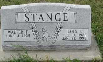 STANGE, WALTER - Buffalo County, Nebraska | WALTER STANGE - Nebraska Gravestone Photos