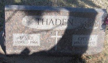 THADEN, OTTO - Buffalo County, Nebraska   OTTO THADEN - Nebraska Gravestone Photos