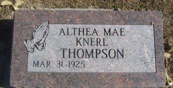 KNERL THOMPSON, ALTHEA MAE - Buffalo County, Nebraska | ALTHEA MAE KNERL THOMPSON - Nebraska Gravestone Photos