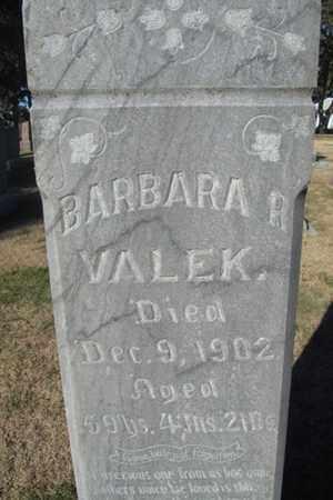 VALEK, BARBARA - Buffalo County, Nebraska | BARBARA VALEK - Nebraska Gravestone Photos