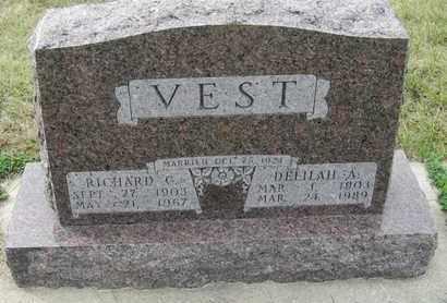 VEST, DELILAH - Buffalo County, Nebraska | DELILAH VEST - Nebraska Gravestone Photos