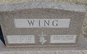BECK WING, EILEEN - Buffalo County, Nebraska | EILEEN BECK WING - Nebraska Gravestone Photos