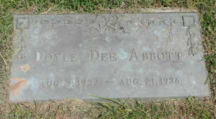 ABBOTT, DOYLE DEE - Burt County, Nebraska | DOYLE DEE ABBOTT - Nebraska Gravestone Photos
