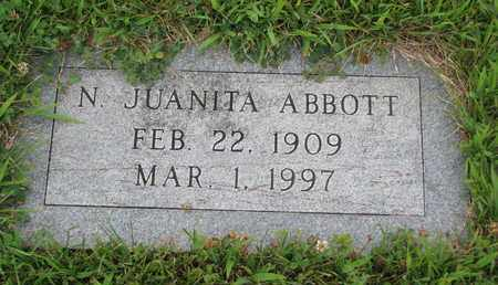 ABBOTT, N. JUANITA - Burt County, Nebraska | N. JUANITA ABBOTT - Nebraska Gravestone Photos