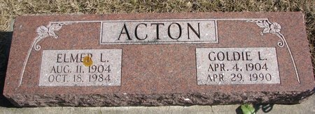 ACTON, ELMER L. - Burt County, Nebraska | ELMER L. ACTON - Nebraska Gravestone Photos